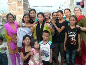 Dr. Kathy in Katmandu, Nepal