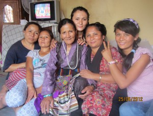 Sila (second from right) and the women in her family.